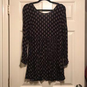Long sleeve strap back dress
